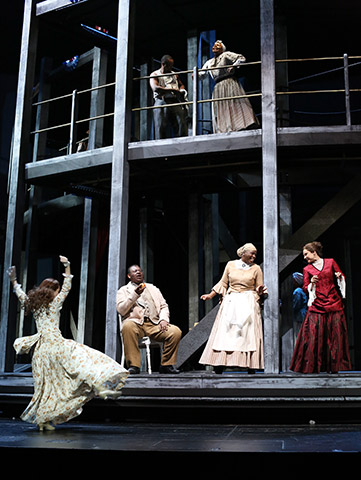 Show Boat Lisa Antoni, Zelotes Edmund Toliver, Adi Wolf, Daniela Dett © Reinhard Winkler