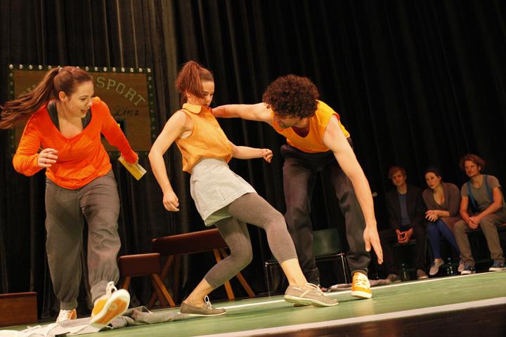 Theatersport Katharina Stehr, Sabrina Rupp, Manuel Klein, Markus Pendzialek, Angela Šmigoc, Wenzel Brücher © Reinhard Winkler
