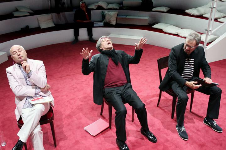 Der (eingebildete) Frauenfeind Vasilij Sotke, Helmut Berger, Lutz Zeidler © Christian Brachwitz