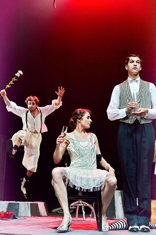 Zirkus Pirandello Aurel von Arx, Anna Eger, Aleksandar Ilić © Patrick Pfeiffer