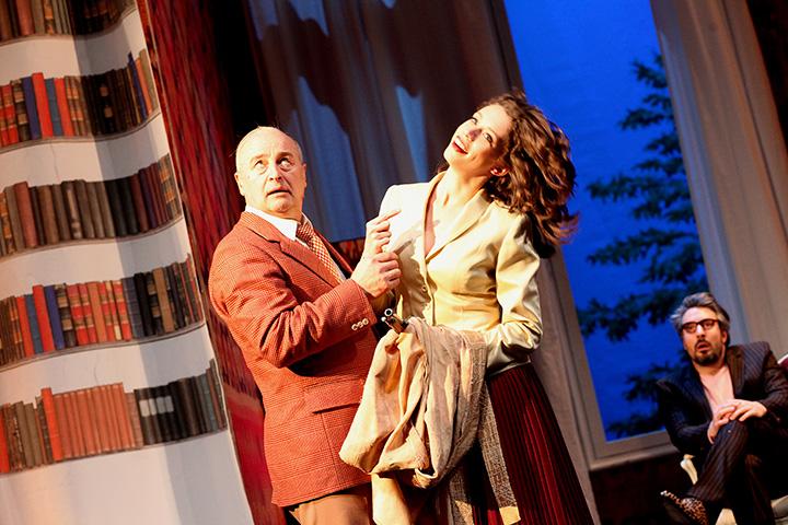Floh im Ohr Vasilij Sotke, Barbara Novotny, Lukas Spisser © Christian Brachwitz