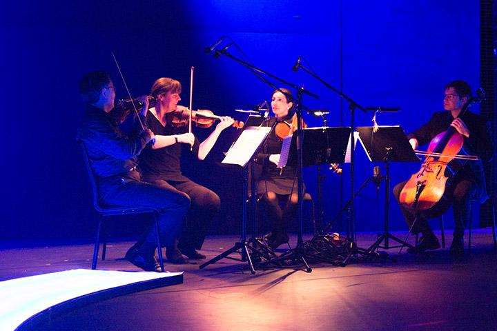 Tod und das Mädchen Franz Xaver Frenzel Quartett (Lui Chan, Johanna Bohnen, Laura Maria Jungwirth, Bertin Christelbauer) © Tom Mesic