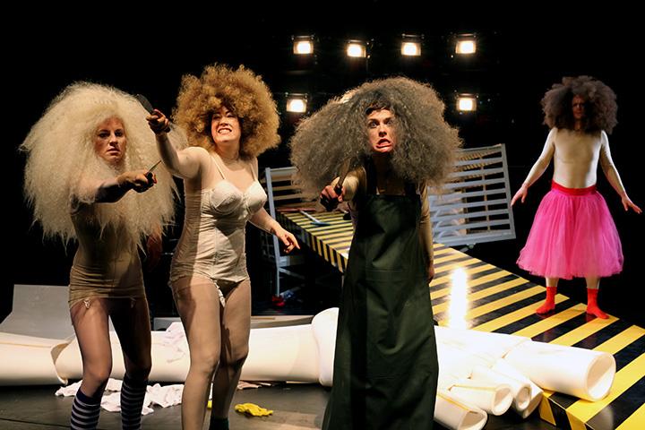 Das Licht im Kasten Corinna Mühle, Angela Waidmann, Ines Schiller, Alexander Hetterle © Christian Brachwitz