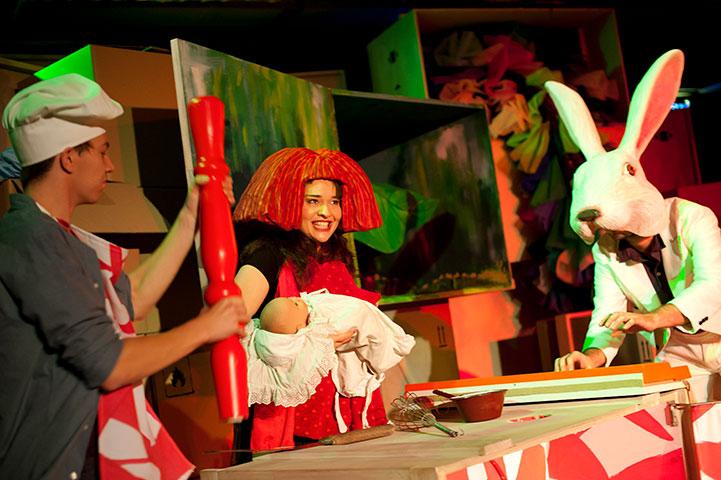 Wunderland! Steven Cloos, Anna Katharina Fleck, Christopher Schulzer © Hermann Posch