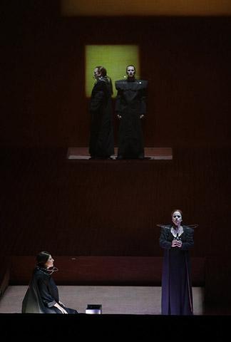 Tristan und Isolde Dshamilja Kaiser, Heiko Börner, Martin Achrainer, Annemarie Kremer © Reinhard Winkler
