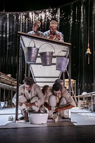 Die Verfolgung und Ermordung Jean Paul Marats Felix Steinhardt, Ludwig Brix, Gunda Schanderer, Clemens Berndorff  © Jochen Quast
