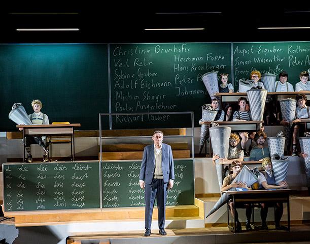 Die Schule oder das Alphabet der Welt Horst Heiss, Ensemble © Sakher Almonem
