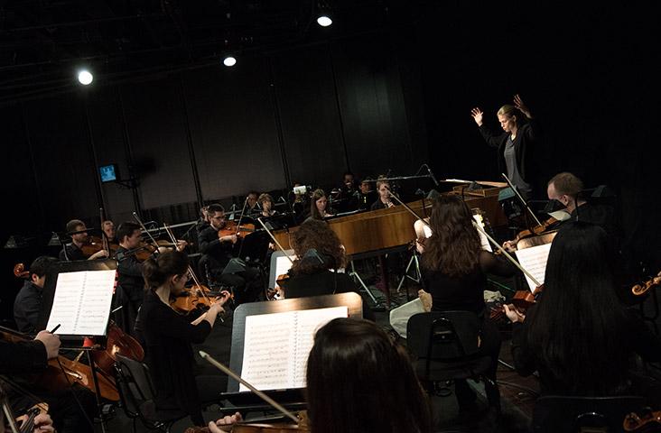 Il matrimonio segreto  Symphonieorchester der ABPU Ltg. Katharina Müllner © Sakher Almonem