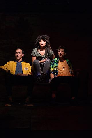 Tschick  Friedrich Eidenberger, Sofie Pint, Alexander Köfner © Petra Moser