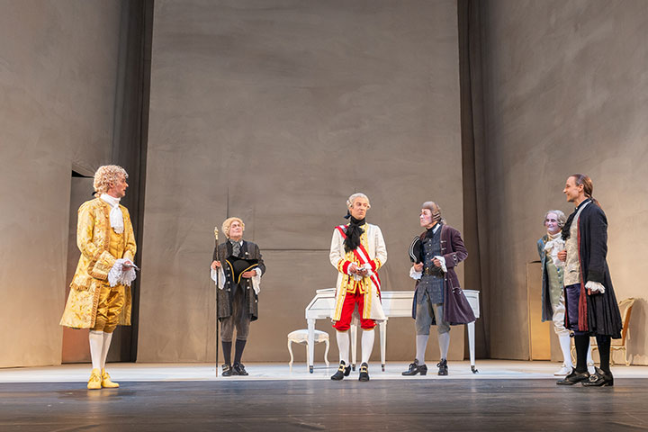Amadeus  Daniel Klausner, Lutz Zeidler, Jan Nikolaus Cerha, Horst Heiss, Sebastian Hufschmidt, Christian Higer © Petra Moser