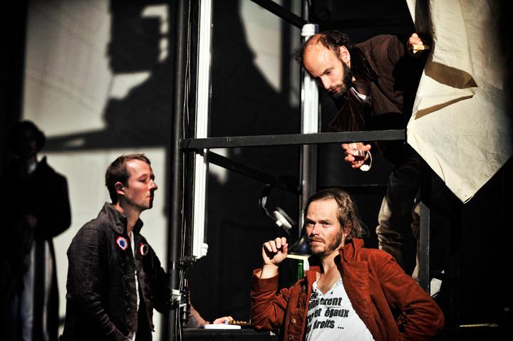 Dantons Tod Björn Büchner, Klaus Köhler, Leon Ullrich © Patrick Pfeiffer