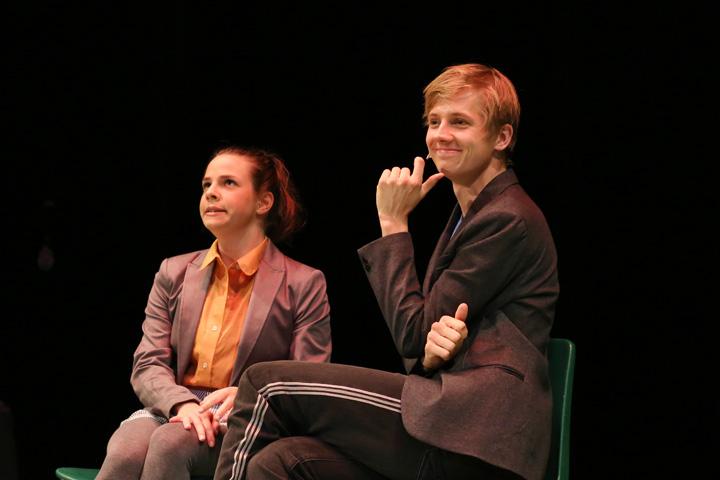 Theatersport Sabrina Rupp, Markus Pendzialek\r\n © Reinhard Winkler