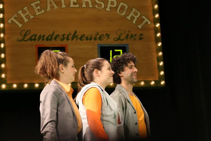 Theatersport Sabrina Rupp, Katharina Stehr, Manuel Klein © Reinhard Winkler
